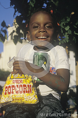 An African-American child Editorial Stock Photo