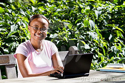 African american college student