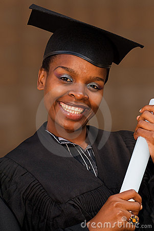 African American College Student Graduating