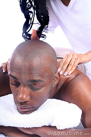African American Couple at Spa