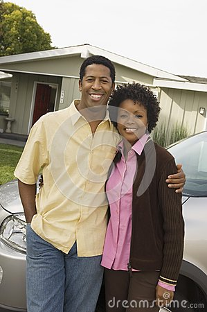 African American Couple Standing Together