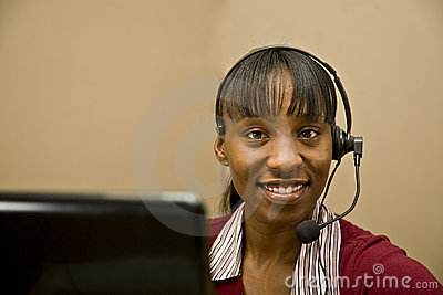 African American Customer Support Representative