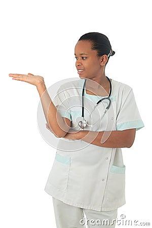 African American doctor nurse black stethoscope