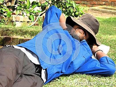 African american garden worker