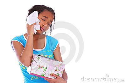 African American Girl Crying C