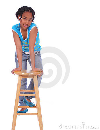 Free African American Girl Posing W Royalty Free Stock Photography - 2127167