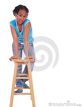 African American Girl Posing W