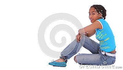 African American Girl Sitting