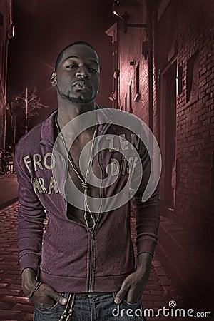African american hip hop man