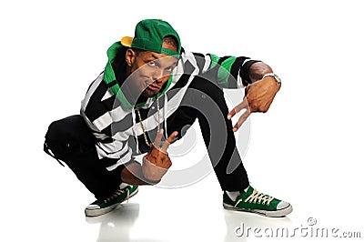 African American Hip Hop Man Dancing