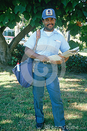 An African-American mail carrier Editorial Stock Photo