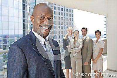 African American Man Businessman & Business Team