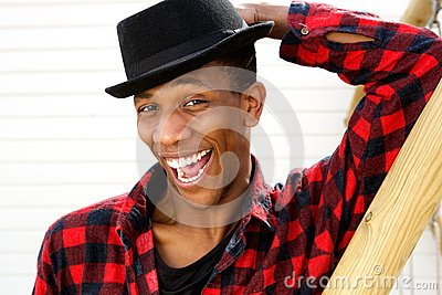 African american man with funny expression