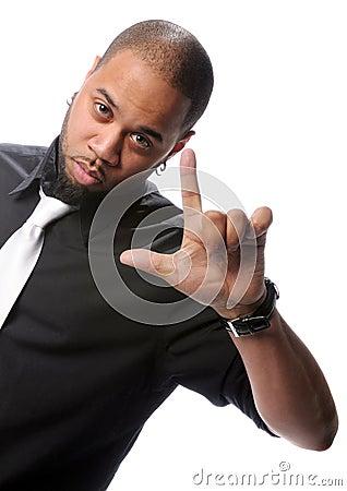 African American Man Gesturing