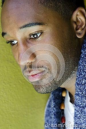 African-American Man, thinking