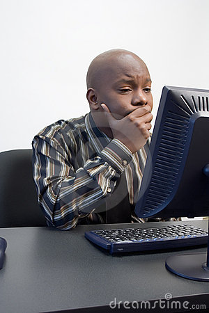 Free African-American Men At A Computer Stock Photos - 904523
