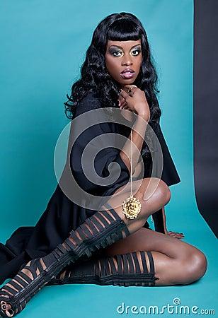 Free African American Model Posing Stock Photos - 26835043