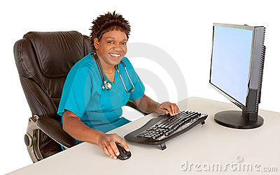 African American Nurse Smiling at Camera