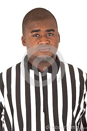 African American referee in uniform