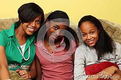 African American teenage sisters