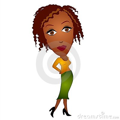 African American Woman Clipart