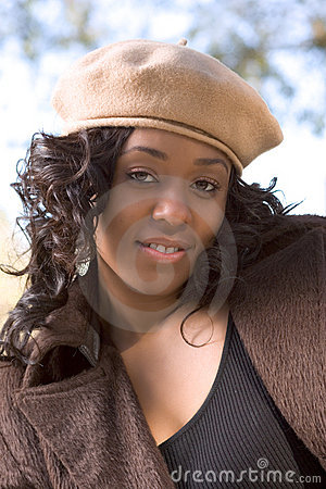 African American woman in hat