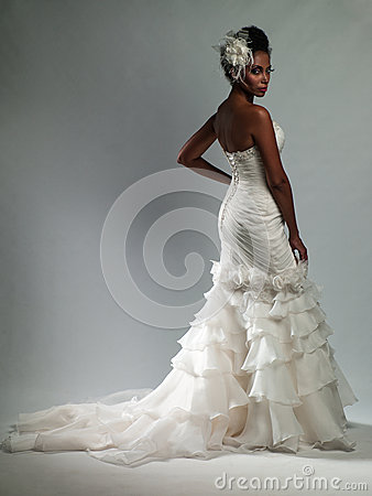 Free African-American Woman In A Wedding Dress Stock Photos - 40918643