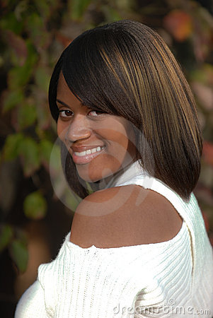 Free African-American Woman Looking An Smiling Stock Photography - 11497742