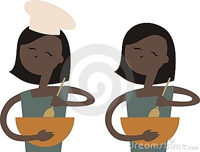 African American woman mixing bowl baking chef 2