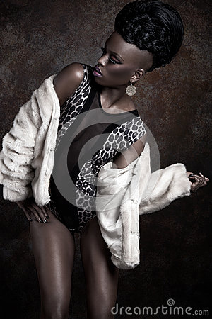 African American woman model