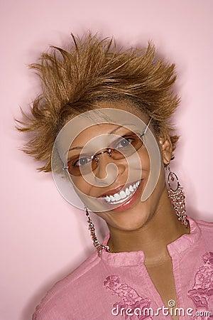 African-American woman portrait.