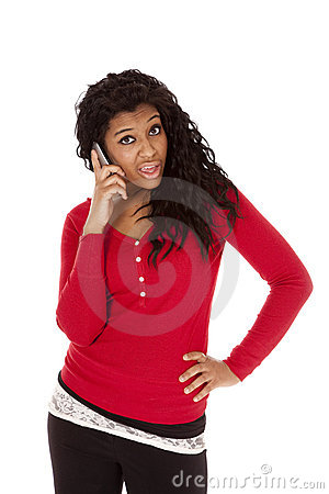 Free African American Woman Say What Stock Photography - 18615602