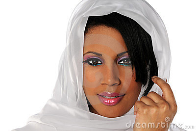 African American Woman With Veil