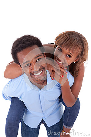 Free African American Young Couple Playing - Black People Stock Photo - 46878780