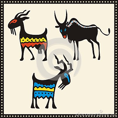 African Animals Illustrations Set