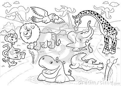 African american family coloring pages
