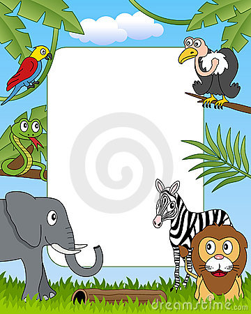 Free African Animals Photo Frame [4] Royalty Free Stock Photo - 16419905