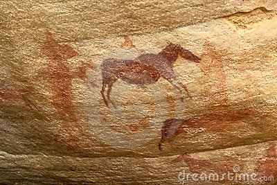 African animals pictograph busman s artwork
