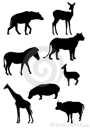 Free African Animals Silhouette Stock Photo - 5198920