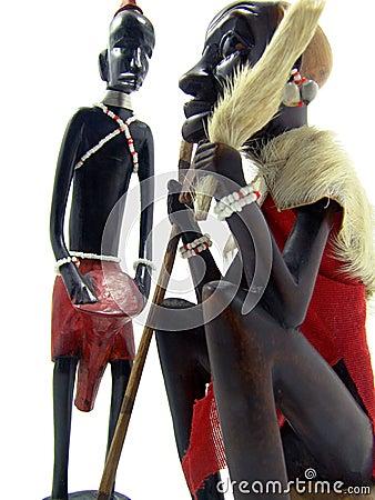 African art statuettes