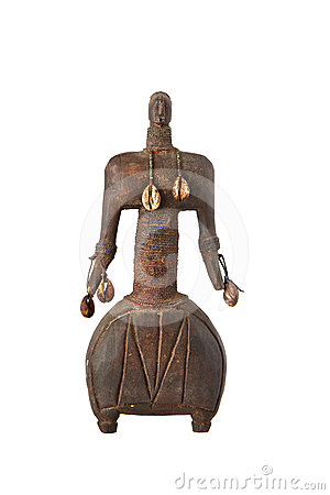 African artifact of a man