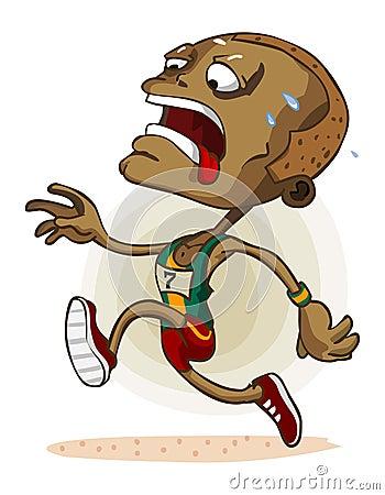 African Athlete on Marathon