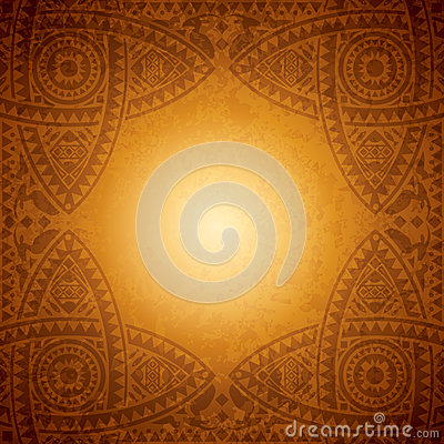 African background design template stock vector image for Mural on indian red ground