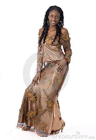 African black woman wearing african clothes