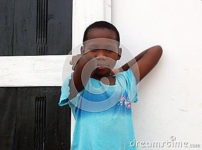 African boy - Ghana Editorial Stock Photo