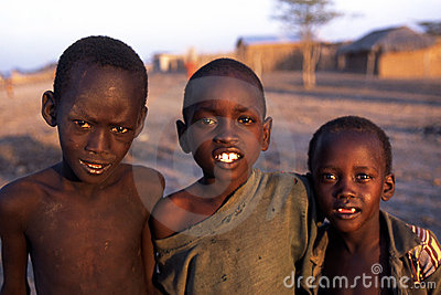 African boys Editorial Stock Image