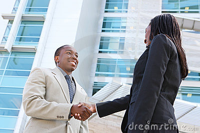 African Business Team Handshake