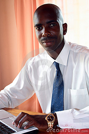 Free African Businessman In Office Royalty Free Stock Photo - 4472725