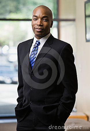 Free African Businessman Posing In Full Suit Stock Images - 6603924