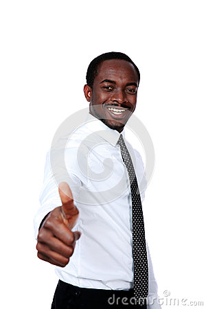 Free African Businessman Showing Thumb Up Stock Photos - 41298443